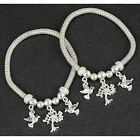 Equilibrium 279455 - LOVE BIRDS TREE OF LIFE CHARM BRACELET - Clear Green TOL