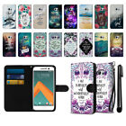 For HTC 10 One M10 Bible Verses Design Ultra Slim Canvas Wallet Case Cover + Pen