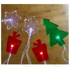 Christmas Gel Window Lights,Xmas Tree String Fairy LED Lamps,Stick Cling On Dec