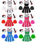 LADIES ZOMBIE CHEERLEADER WOMENS SCHOOL FANCY DRESS COSTUME HALLOWEEN ADULT