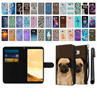 "For Samsung Galaxy S8 G950 5.8"" Ultra Slim Canvas Wallet Case Cover + Pen"