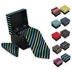 Внешний вид - Berlioni Men's Silk Neck Tie Accessory Box Set With Cufflinks & Pocket Square