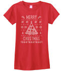 Merry Crustmas Ugly Sweater Girls Fitted T-Shirt Funny Christmas Gift