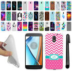 For Motorola Moto E3 3rd 2016 TPU SILICONE Soft Protective Case Cover + Pen