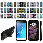 For Samsung Galaxy J1 J120 2nd Gen Hybrid Heavy Duty Kickstand Case Cover + Pen