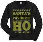 Santa's Favorite Ho Women's Long Sleeve T-Shirt Funny Wife Christmas Gift
