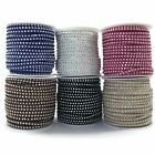 Faux Suede Cord, with Aluminum Cabochons Studs 3mm x 2mm - choose length  (A2)
