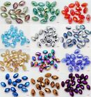 40PCS OVAL MIXED COLORFUL CRYSTAL AB 4X6MM DIY LOOSE BEADS FOR JEWELRY MAKING