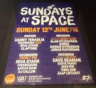 SUNDAYS AT SPACE @ SPACE CLUB - IBIZA CLUB POSTERS 2016 - TECHNO HOUSE MUSIC DJ