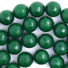 """Faceted Emerald Green Jade Round Beads Gemstone 15"""" Strand 3mm 4mm 6mm 8mm 10mm"""