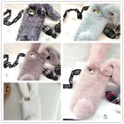 3D Phone Case Bling Rabbit Fur Plush Shell Phone Case Cover For iPhone WCC