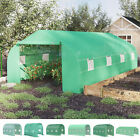 New Walk-in Polytunnel Round / Gable Top Garden Greenhouse Window Door Heat Shed