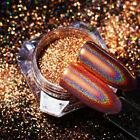 Champagne Rose Gold Holographics Nail Art Glitter Powder Mirror Dust BORN PRETTY