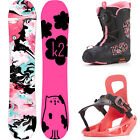 K2 Girls Grom Package Children's Snowboard Set Complete with Binding and Boots