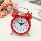 Mini Vintage Double Bell Alarm Clock Metal Quartz Bedside Loud Desktop Decor
