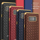 For Samsung Galaxy Note 8 Luxury Business Style Grid Leather Magnetic Case Cover
