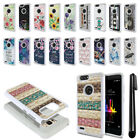 For ZTE Blade Z Max Z982 Sequoia Studded Bling HYBRID Case Phone Cover + Pen