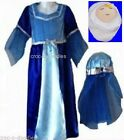 CHRISTMAS Nativity Play MOTHER Virgin MARY Fancy Dress Costume + Baby Jesus Toy