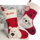 PET STOCKING Luxury Deluxe Personalised Embroidered Christmas, Cat & Dog