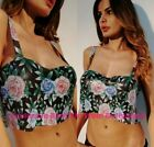 Sexy Women Elegant Floral Print Metal Backless Vest Top Crop Camisole Party Club