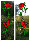 Trailing Roses Stained Glass Effect Window Clings