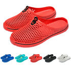 Unisex Breathable Flats Slippers Hollow out Travel Beach Sandals Hole Shoes US
