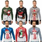Loyalty & Faith Mens Novelty Christmas Jumpers Knitted Top 3D Xmas Gift Sweater