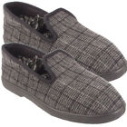 MENS SLIP ON SHOES CASUAL TEXTILE TARTAN  WARM SLIPPERS SIZE UK - 7 8 9 10 11 12