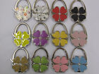 CHOICE OF STUNNING CLOVER SHAPED PRETTY HANDBAG HOOK HOLDERS 2 IN 1 ACCESSORY