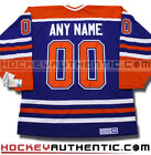 EDMONTON OILERS ANY NAME  NUMBER JERSEY CCM VINTAGE BLUE