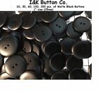 "10 to 300 pcs. of Shiny Black 2 hole BUTTONS 1"" New 25mm Wholesale in Bulk"