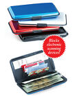 Aluminum Hard Case Safety Wallet -Blue OR Red