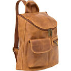 Le Donne Leather Distressed Leather Womens Backpack Handbag NEW