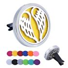 Stainless Car Air Vent Freshener Essential Oil Diffuser Locket Decor+12Pads Gift