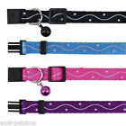 Nylon Cat Collar Reflective With Pattern - Choice Of Colours