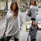Women Casual Oversized Hoodie Baggy Jumper Hooded Sweatshirt Coats Pullover UK