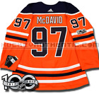 CONNOR MCDAVID EDMONTON OILERS ADIDAS ADIZERO HOME JERSEY AUTHENTIC PRO 100TH