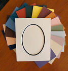 Mat  Picture Framing Matting Oval Opening Double Layer Mat Choose Size & Color