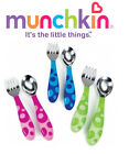 Baby Fork and Spoon Cutlery Set Toddler Food Feeding Munchkin 12m+ New