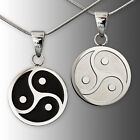 Pendant BDSM Triskele Stainless Steel Jewelry of O Black Silver Men's