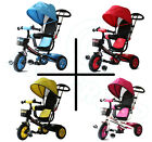 All Road  4in1 Trike - Blue Red Pink Yellow - Push Handle Pedal Kids Tricycle CE