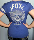 New FOX RACING RIDERS Blue RIDE TO THRILL T Shirt Top GRAPHIC LOGO S M L