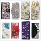 Luxury Flip Leather Bling Crystal Diamond Wallet Case Cover For iPhone/ ZTE/ LG