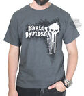 Harley-Davidson Mens Bad As Can Be Willie G Skull Charcoal Short Sleeve T-Shirt