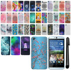 For HTC Desire 826 Art Design Protective Phone Hard Case Back Cover + Pen
