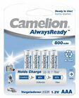 12 x Camelion AAA Micro Akkus HR03 800mAh Ready to Use Vorgeladen 1,2V Blister