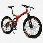 "26"" Folding Mountain Bike 21 Speed Shimano Cycling Bicycle Air Suspension Fork"