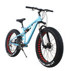 "Men's 26"" Snow Bike Mountain Bicycle 24speed Shimano Fat Tire Rear Suspension US"
