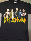DEF LEPPARD Group Photo T-Shirt *NEW concert tour band Small Sm S image