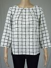 Marks & Spencer m&s white&black top - tunic -blouse uk 10 12 14 16 18 20 22 eu 3